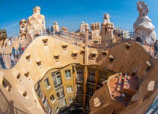 Barcelona sprankelende stad met architectuur